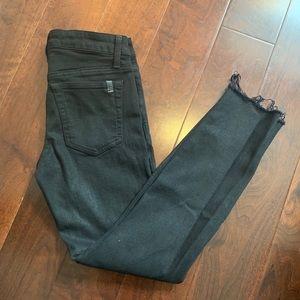 Joe's Jeans Black Skinny Jeans with Raw Hem